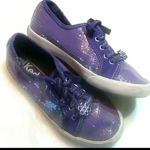 Keds purple sequin shoes